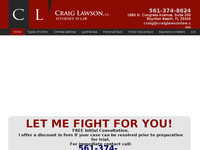 CRAIG LAWSON website screenshot