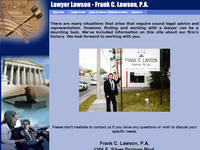 FRANK LAWSON website screenshot