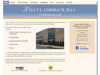 KELLY LEIMBACK website screenshot