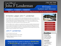 JOHN LENDERMAN website screenshot
