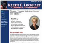 KAREN LOCKHART website screenshot