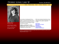 DEBBIE LONG website screenshot
