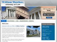 WILLIAM MANIKAS website screenshot