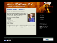 MARIE BLUME website screenshot