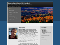 JAMES MC FAUL website screenshot