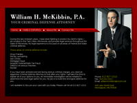 WILLIAM MC KIBBIN website screenshot