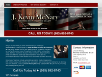 J KEVIN MC NARY website screenshot