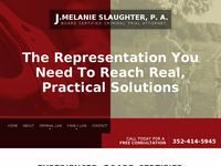 MELANIE SLAUGHTER website screenshot