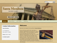 SANTA MENDOZA website screenshot