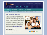MERLIN REED website screenshot