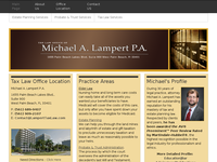 MICHAEL LAMPERT website screenshot
