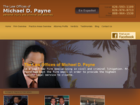 MICHAEL PAYNE website screenshot