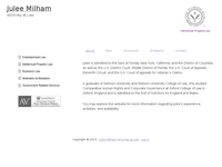 JULEE MILHAM website screenshot