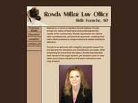 RONDA MILLER website screenshot