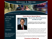 WILLIAM MOORE website screenshot