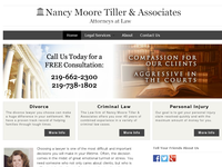 NANCY MOORE TILLER website screenshot