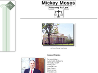 MICKEY MOSES website screenshot