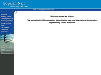 GOPALAN NAIR website screenshot