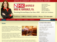 NIKKI KOVOUKLIS website screenshot