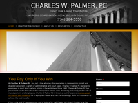 CHARLES PALMER website screenshot