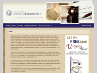 PATRICK CRAWFORD website screenshot
