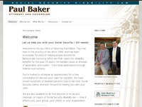 PAUL BAKER website screenshot