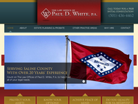 PAUL WHITE website screenshot