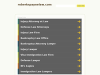 ROBERT PAYNE website screenshot