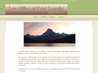 PETER LEANDER website screenshot