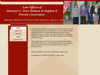 STEPHEN PROCTOR website screenshot