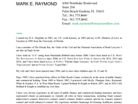 MARK RAYMOND website screenshot