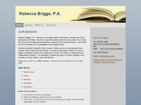REBECCA BRIGGS website screenshot