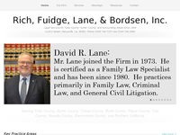 DAVID LANE website screenshot