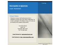 RICHARD MAHON website screenshot