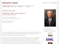 RICHARD HYATT website screenshot