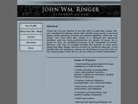 JOHN RINGER website screenshot