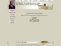 ROBERT WASHINGTON website screenshot