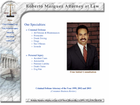 ROBERTO MARQUEZ website screenshot