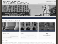 ROLAND WALKER website screenshot