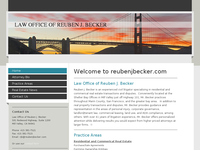 REUBEN BECKER website screenshot