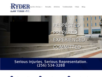 BRAD RYDER website screenshot