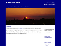 S KENNON SCOTT website screenshot