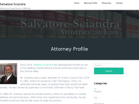SALVATORE SCIANDRA website screenshot