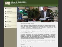 NEAL SANDERS website screenshot
