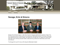 GARY SIMONS website screenshot