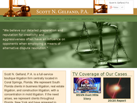 SCOTT GELFAND website screenshot