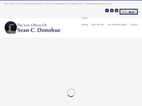 SEAN DONAHUE website screenshot