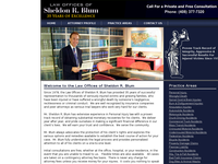 SHELDON BLUM website screenshot