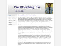 PAUL BLOOMBERG website screenshot