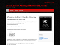 GLENN SUNDIN website screenshot